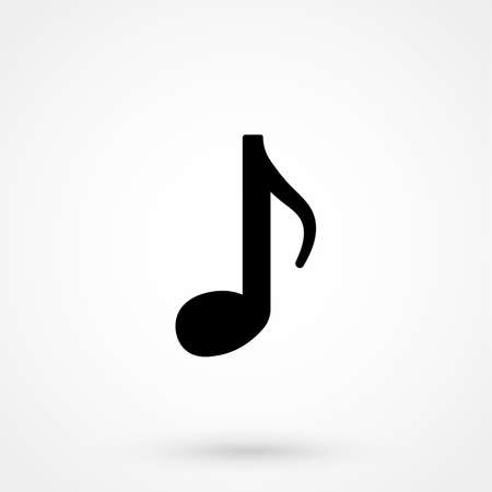 Music icon, vector illustration. Flat design style Illustration