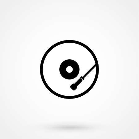 Bell ringing symbol.