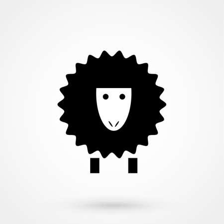 Sheep icon front view Ilustração