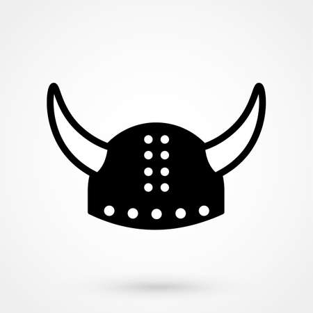 Helmet with horn icon Illustration