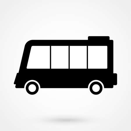 Minibus icon vector, solid logo illustration, pictogram isolated on white