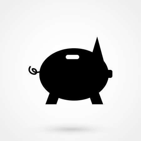 money piggy icon vector illustration. Illustration