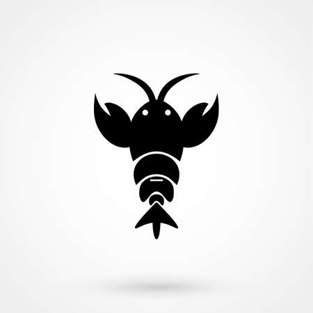 Lobster flat icon. Illustration