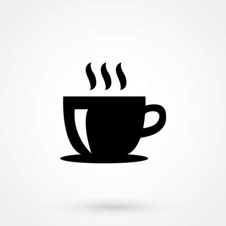 Illustration of a Coffee cup icon Çizim