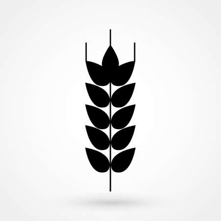 Silhouette of a wheat icon in isolated background