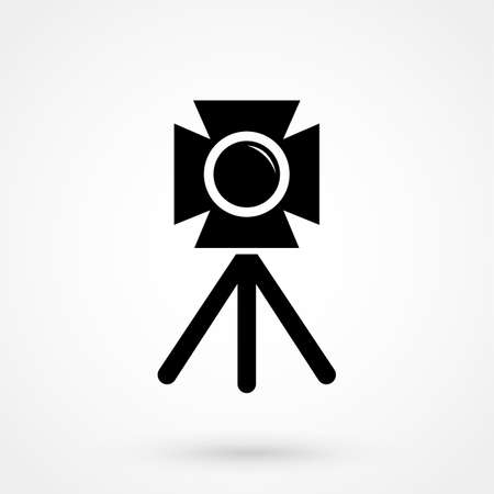 photo camera. tripod. 向量圖像