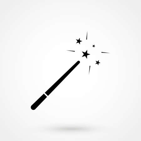 magic wand icon isolated on background. Modern flat pictogram