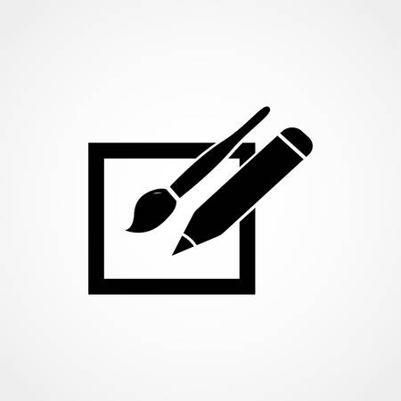 Graphic Tablet Icon Vector Illustration, Graphic Tablet Flat Design