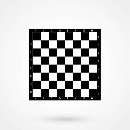 Vector seamless pattern simulates a black and white chessboard.
