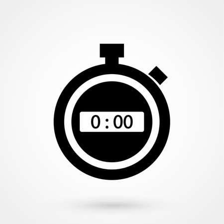 Cronometro, icona piatta timer cronometro per app e siti Web Archivio Fotografico - 89881227