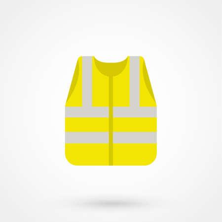 黄色のウエストコートの安全性