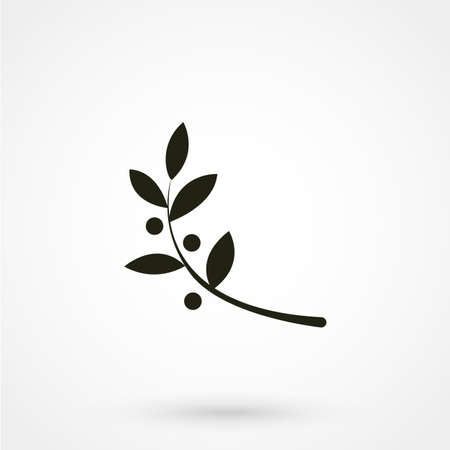 Vector unusual olive branch isolated logo, icon, illustration and symbol template. Ilustracja