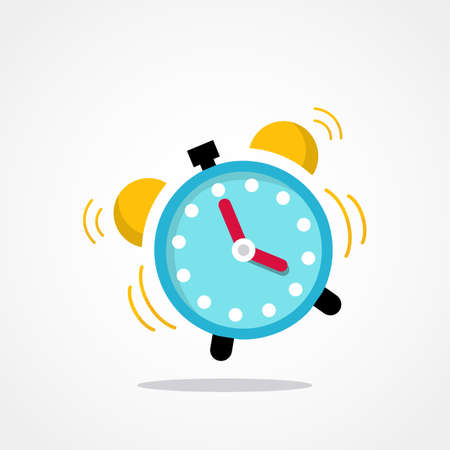 Ringing alarm clock vector illustration