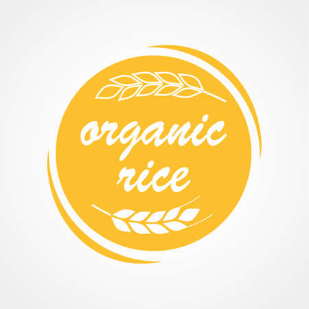 Rice art icon. Vector illustration.
