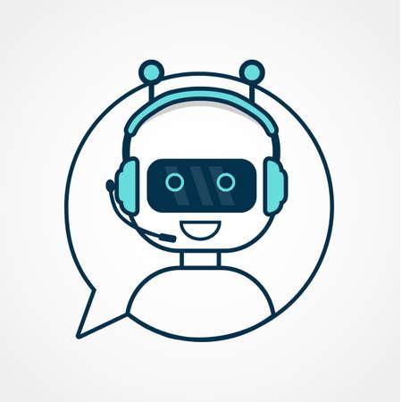 Chatbot icon. Ilustração