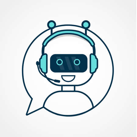 Chatbot icon. Illustration