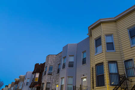 housing prices: Residential Neighborhood in Brooklyn on a sunny day. Photographed in April 2015.