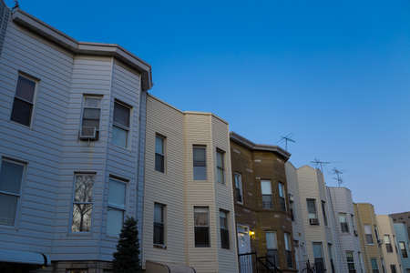residential neighborhood: Residential Neighborhood in Brooklyn on a sunny day. Photographed in April 2015.