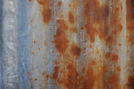 corrugated steel: Rusted galvanized iron plate close up