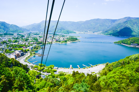 Japanese Ropeway Landscape View