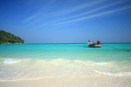 phuket province: Raya island beach of Phuket Thailand Stock Photo