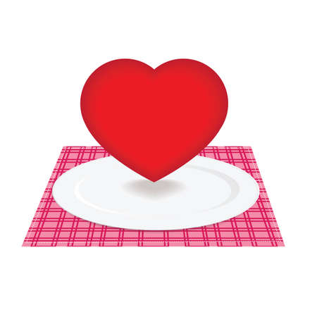 Heart on plate Vector