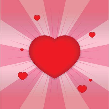 shiny hearts: shiny hearts shape Illustration
