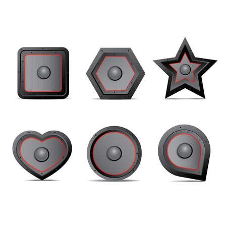 Amp speaker Icon set
