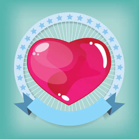 Heart jelly shape in Looped Circle Vector