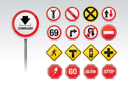 highway sign: Traffic and other signs