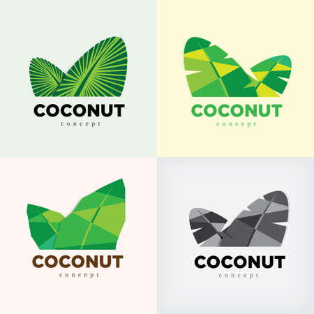 coconut leaf: coconut concept icon or symbol Illustration