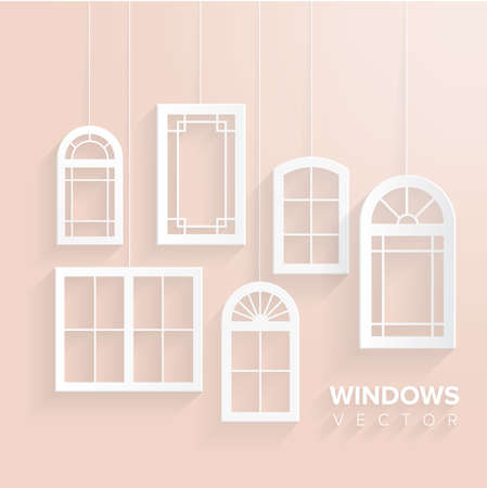 interior window: Windows house set