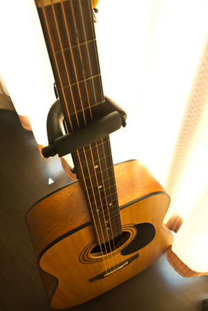 classical acoustic guitar body photo