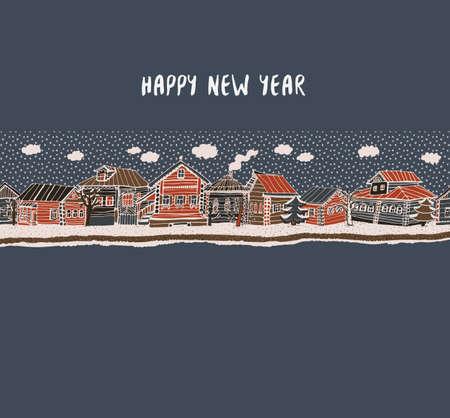 happy new year card 向量圖像
