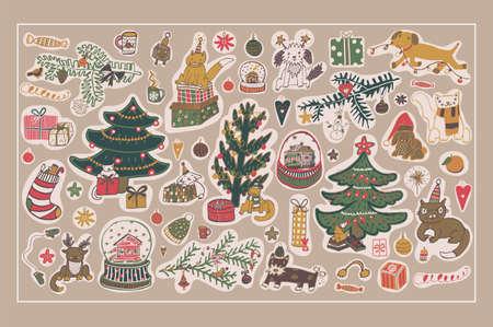 New Year sticker set
