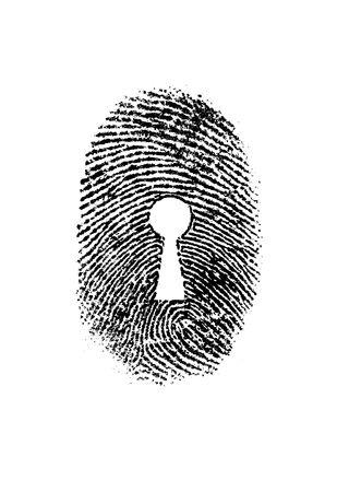 odcisk kciuka: Odcisk kciuka dziurka