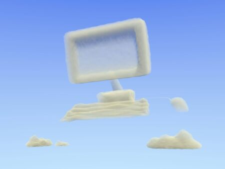 compute: Concept for cloud computing. Stock Photo