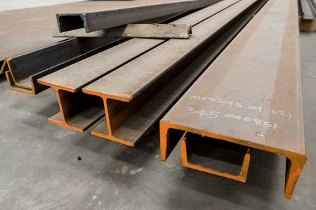 steel factory: Structural steel
