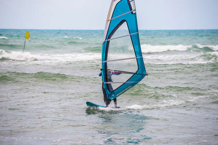 Windsurfing, Fun in the Black sea, Anapa, Krasnodar region ,  Extreme Sport Archivio Fotografico