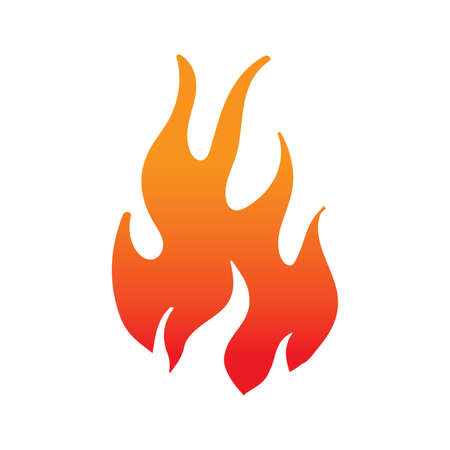 Fire . Red, orange yellow fire - vector illustration