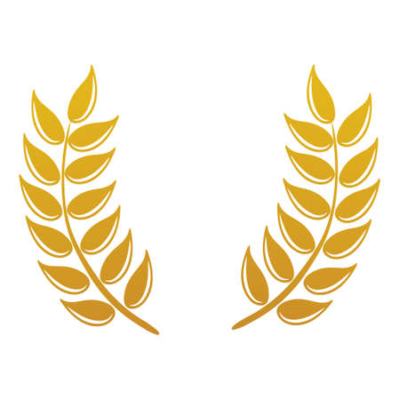 vector design and elements of wheat grain, wheat ears, wheat seed, or wheat rye, prosperity symbol