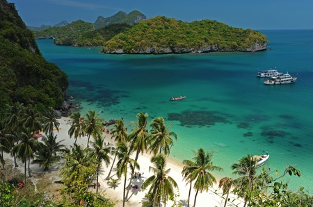 A Beach of Angthong National Park, Thailand  Stock Photo