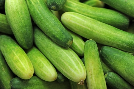 Fresh cucumbers at market