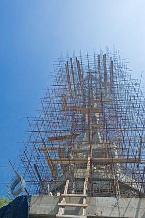 Under construction image of buddha statue Stock Photo - 11286668