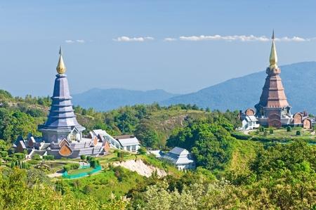doi: Luogo viaggi di piacere, Doi Inthanon parco nazionale della Thailandia Archivio Fotografico
