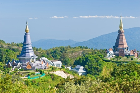 Place leisure travel, Doi Inthanon national park of Thailand  Stock Photo