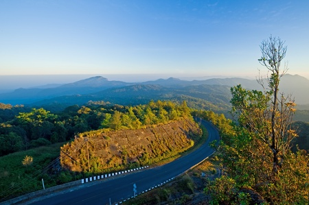 Road on mountain, Thailand  Stock Photo