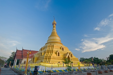 Golden pagoda in temple of Thailand  Stock Photo - 13457464