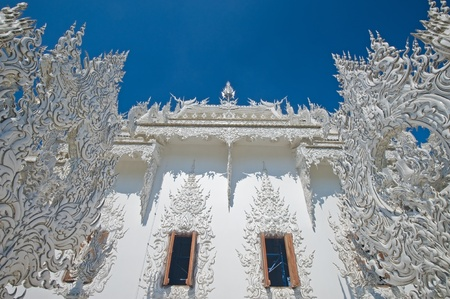 Wat Rongkun - the white temple in Chiangrai , Thailand Stock Photo - 13457551