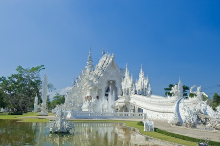 Wat Rongkun - the white temple in Chiangrai , Thailand Stock Photo - 13457523